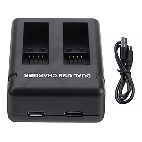 Dual B attery Charger Dual USB Charger For GoPro HERO7/6/5