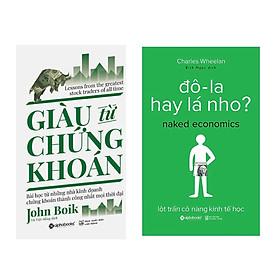 Combo Sách Kĩ Năng Kinh Doanh: Giàu Từ Chứng Khoán (Tái Bản 2018)  + Đô-La Hay Lá Nho? (Tái Bản 2017)