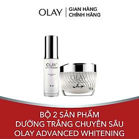 Bộ 2 sản phẩm dưỡng trắng chuyên sâu Olay Advanced Whitening