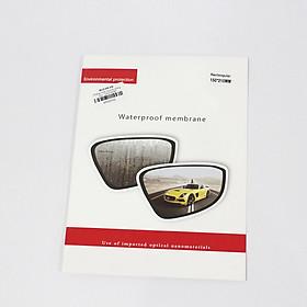 Cặp film chống chói và chống nước mưa gương chiếu hậu ô tô - Hình Chữ Nhật 150x220mm