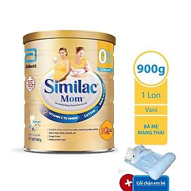 Sữa Bột Similac Mom Hương Vani (900g) – Tặng 1 Bộ Gối Chặn Em Bé