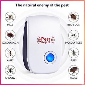 【Có hàng sẵn】【FREE Thuốc đuổi muỗi nút】Máy Đuổi Muỗi, Côn Trùng Trong Nhà Dùng Sóng Điện An Toàn Pest Reject 2019
