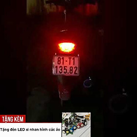 Đèn chớp hậu 33 Led F1 cho xe máy A232-KC6 - Tặng kèm đèn xi nhan cúc áo