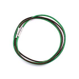 Combo 2 sợi dây vòng cổ cao su - xanh lá + nâu DCSXLN1