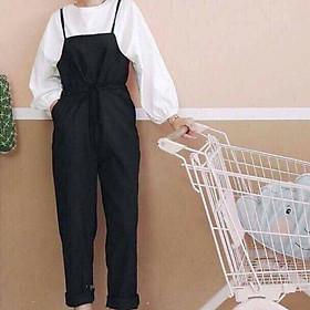 Set Quần yếm nữ kết hợp áo thun thời trang , chất liệu yếm kaki, kiểu loại yếm quần dài, thiết kế đơn giản, màu sắc đa dạng, form free size, hàng đẹp