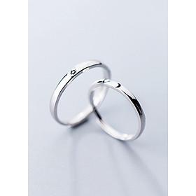 Nhẫn Cặp | Nhẫn Đôi Nam Nữ Freesize Mặt Trang Ôm Mặt Trời ND2516 (Có thể tùy chỉnh tùy ý theo cỡ tay)