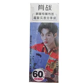 Bookmark Tiêu Chiến hộp bookmark 60 ảnh phim Trần tình lệnh Vương Nhất Bác tặng ảnh thiết kế Blue Vcone