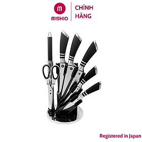 Bộ dao cao cấp 8 món thép không gỉ Mishio - Model Goodlife MK88 - Hàng chính hãng
