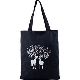 Túi Vải Đeo Vai Tote Bag 2 Con Hươu XinhStore