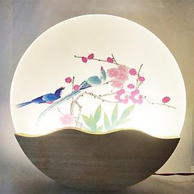 Đèn trang trí gắn tường phòng ngủ, phòng khách LED hình đôi chim ba chế độ ánh sáng NATURAL LAMP