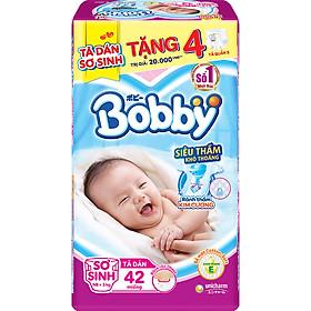 Tã Dán Bobby Sơ Sinh Siêu Thấm XS42 (42 Miếng) + 4 Miếng Tã Quần S