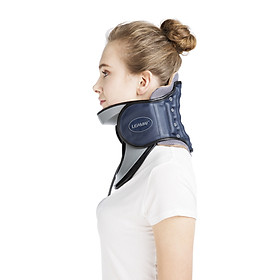 LEAMAI Medical Cervical Collar Neck Traction Device Inflatable Pinched Nerve Neck Stretcher for Neck Pain Relief and