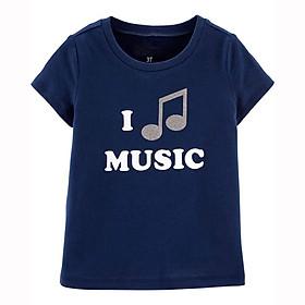 Áo thun bé gái I Music