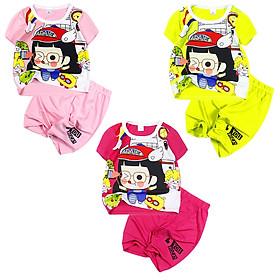 Đồ bộ mặc mát in hình Arale cho bé gái 0.5-5 tuổi từ 8 đến 20 kg 06163-06165