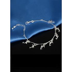 Lắc tay vòng tay nữ cá heo thanh lịch (Tặng móc khóa gỗ BTS thiết kế độc quyền)