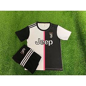 Bộ Đồ Đá Banh Trẻ Em Clb Juventus Trắng Đen 2019