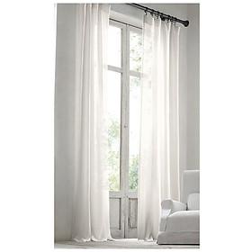 1 rèm vải canvas màn cửa trang trí đầu kẹp kim loại chống gỉ m02