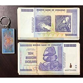 Tờ 10 tỷ Dollar Zimbabwe, tiền cổ của quốc gia lạm phát (kèm móc khóa tiền xưa lạ mắt)