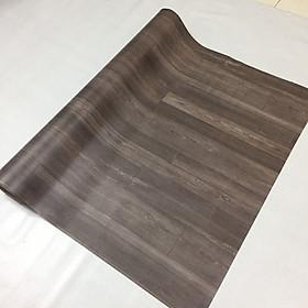 Thảm lót sàn simili vân gỗ nhám màu xám đậm