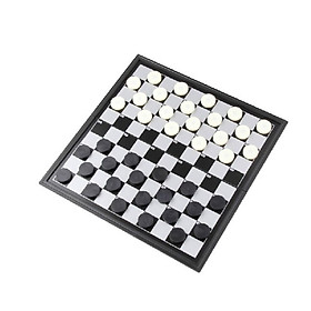1 Set Checkers Folded Magnetic Plastic Collapsible Checkers Set Draughts Checkers Chess