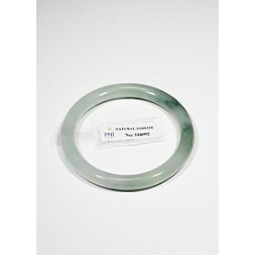 Vòng cẩm thạch trắng xanh bản đũa size 54 kèm kiểm định