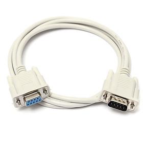 Cáp nối dài Com to Com DB9 to DB9 RS232 to RS232 1 đầu đực, 1 đầu cái 1.5m - Hàng nhập khẩu