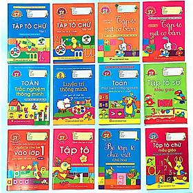 Combo Tập Tô Chữ, Tập Tô Nét, Tập Tô Số , Làm Quen Với Toán Học - Trọn Bộ 12 Cuốn (Dành Cho Trẻ Từ 4 - 7 Tuổi)