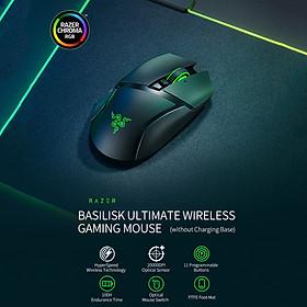 Razer Basilisk Ultimate Wireless Mouse HyperSpeed Wireless Technology 20000DPI FOCUS+ Optical Sensor (without Charging