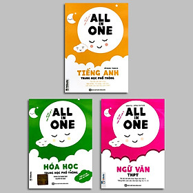 Combo bộ sách ALL IN ONE -  TIẾNG ANH - NGỮ VĂN - HÓA HỌC dành cho học sinh THPT TV
