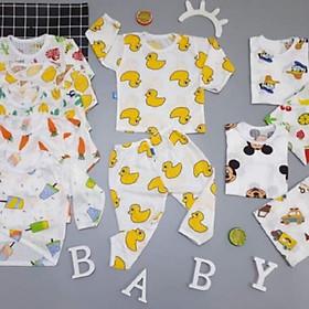 combo 4 bộ quần áo dài tay chất cotton giấy loại 1 cho bé
