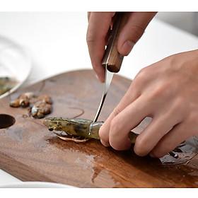 Set 3 Dụng cụ cắt vỏ tôm inox - XESEA - 17x2.4cm lưỡi 7.3cm 37g