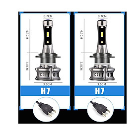 Car LED Headlight  XT7 Large-Sized LED Lamp Demon Eyes Running Lamp Retrofit  H4 H7 H11/H8  9005 9012 9006