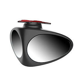 Digalon car front and rear wheel blind zone mirror rearview mirror small round mirror 360 degree boundless super clear adjustable HD auxiliary reflective blind zone car supplies co-pilot - single
