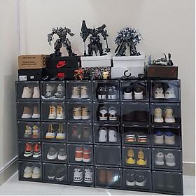 5 Hộp đựng giày nhựa cứng cửa mở nam châm, trọng lượng 1000gram, tháo lắp dễ dàng | kích thước 26 * 20,5 * 35,5cm