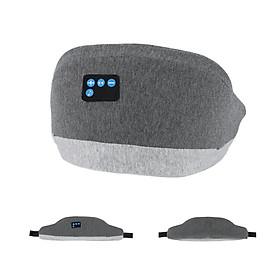 Music Eye Mask Sleep Headset Rechargeable Eye Mask BT 5.0 4D Stereo Wireless BT Earphones Travel Eye Shades with