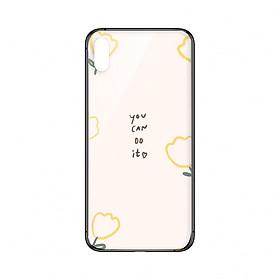 Ốp lưng CƯỜNG LỰC VIỀN ĐEN cho iPhone XS YOU CAN DO IT - Hàng chính hãng