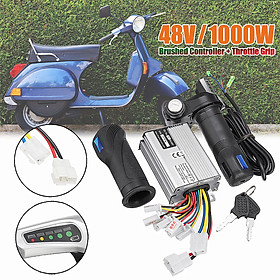 48V 1000W Electric Motor Brushed Controller + Throttle Grip
