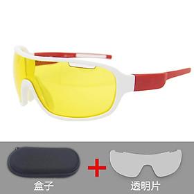 2pcs/set Cycling  Sunglasses Outdoor Riding Sport Eyewear Lightweight Polarized Glasses