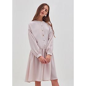 Đầm Nữ Nẹp Nút Tay Dài Thắt Lưng Marc Fashion PH090218