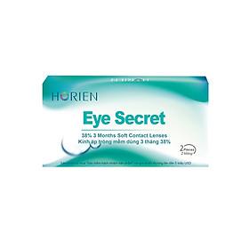 [Một cặp] Kính Áp Tròng Trong Suốt Dùng 3 Tháng Eye Secret KT3T