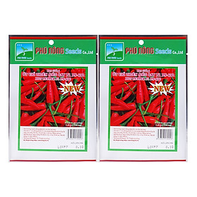 Bộ 2 Gói Hạt Giống Ớt Chỉ Thiên Siêu Cay 23 Hạt Phú Nông PN130458-400 (0.1g / Gói)