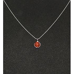 Dây chuyền mặt đá mã nào đỏ mang lại may mắn và bình an J15014