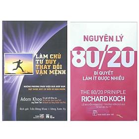 Combo Sách Kinh Tế Và Kỹ Năng Tư Duy: Làm Chủ Tư Duy, Thay Đổi Vận Mệnh + Nguyên Lý 80/20 - Bí Quyết Làm Ít Được Nhiều (Bộ 2 Cuốn Sách Hướng Bạn Đến Với Thành Công - Tặng Kèm Bookmark Happy Life)