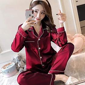 Bộ đồ pijama nữ quần dài và áo tay dài C093