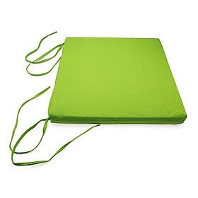 Nệm Ngồi Soft Decor 405 Green Canvas Square Seat Pad (40 x 40 x 5 cm) - Xanh Lá