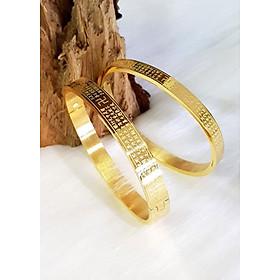 Vòng tay bát nhã  nam nữ mạ vàng 24k (1 cái)