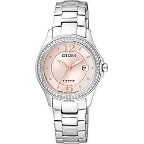 Đồng hồ đeo tay nữ quang động năng tinh thể swarovski CITIZEN Eco-Drive 29mm