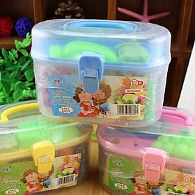 Hộp đồ chơi đất sét 12 màu có khuôn cho bé