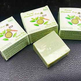 Xà phòng handmade - Xà bông Trà xanh ( 3 bánh ) - Adeva Naturals - Giúp làm sạch da, tăng độ ẩm cho làn da, cho da mềm mịn
