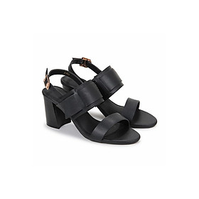 Giày Sandal Nữ Gót Vuông Xéo Quai Bản Nados S07001